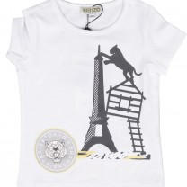 Parisian Eiffel Tower Print Tees