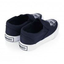 Blue Canvas Tiger Trainers