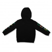 Black Sleeve Logo Hooded Jacket