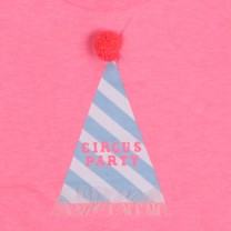 Girls Pink Polycotton T-Shirt