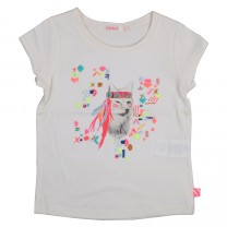 Girls Ivory T-Shirt & Bag Set