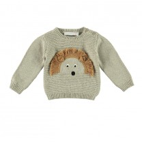 Brown Lion Knitted Sweater