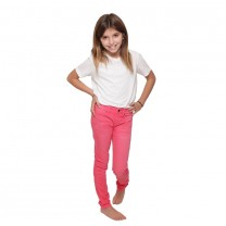 Neon Pink Distressed Color Jeggings