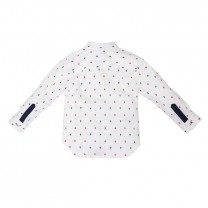 White Anchor Long Shirt