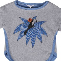 Misty Grey Blue Birdie Sweater (8-10 years)