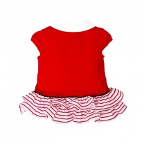 Red Cotton Pique Dress