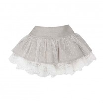 Light Brown Taupe Cotton Tulle Skirt