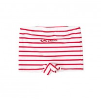 Red White Striped Cotton Shorts