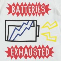 Batteries Print Cotton Jersey T-shirt