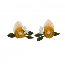 Fawn Ears With Peony Hairclip