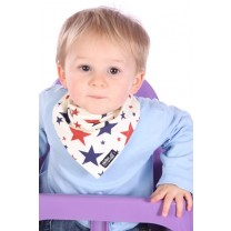 Red & Blue Stars Bib