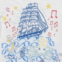White Sailing Ship T-Shirt
