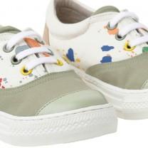 Cream Splattered Sneakers