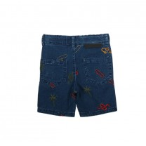 Denim Short Embroidered