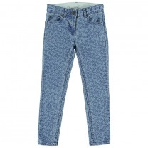 Star Printed Stretched Denim Jeans