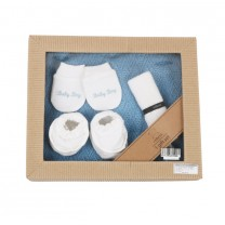 White and Blue Baby Gift Set