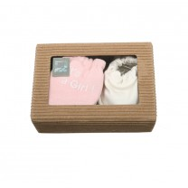 Baby Pink Girl Baby Gloves Set