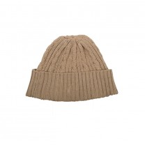 Latte Knitted Cable Hat