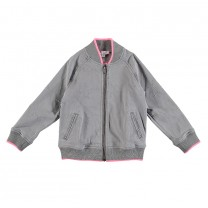 Grey Stars Cotton Bomber Jacket