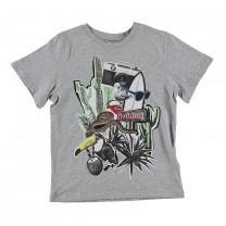 Grey Holiday Print T-shirt