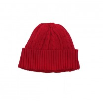 Red Knitted Cable Hat