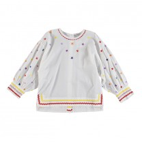 White Star Embroidered Top