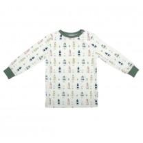 White Light House Long Sleeves Pyjamas Set