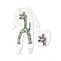 Babysuit and Bib Giraffe Set