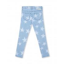 Light Blue Stars Denim Pants