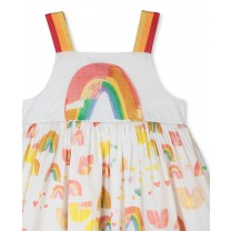 White Paint Rainbow Dress