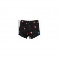 Black Stars Denim Shorts