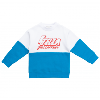 Blue and White Logo Sweater