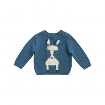 Blue Horse Knitted Sweater