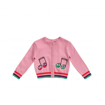 Pink Musical Note Cardigan