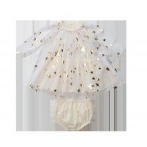 Gold Stars Baby Tulle Dress