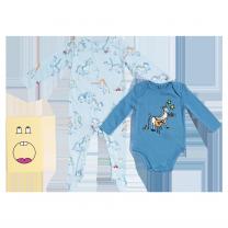 Blue Horse Print Babygrow Set