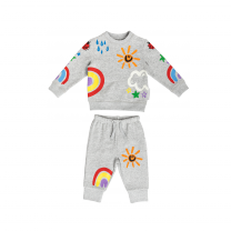 Colorful Weather Print Baby Sweater