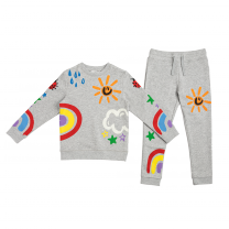 Colorful Weather Print Sweater