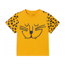 Orange Cheetah Baby T-Shirt