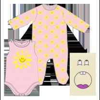 Baby Pink Sunshine Babysuit Set