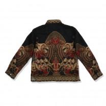 Black Wayang Beber Long Shirt