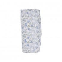 Blue Floral Muslin Wrap