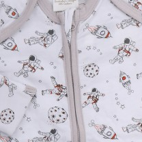 Zip Up Babysuit with Astronaut Print