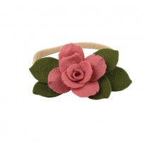 Eucalyptus with Pink Rose Headband