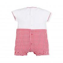 Red Checkered Babygrow
