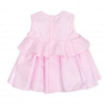 Baby Pink Sleveless Jacquard Dress