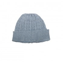 Baby Blue Knitted Cable Hat