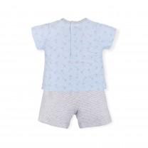 Blue and Grey Bunny Polkadots Babygrow