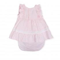 Soft Pink Ruffled Baby Dress