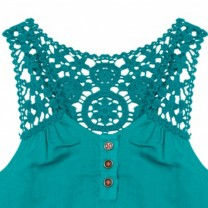 Turquoise Crochet Tank